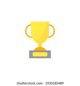 Trophy cup, champion, winner vector flat icon