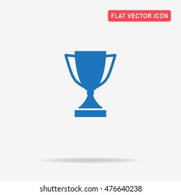 Trophy cup icon. Vector concept illustration for design.
