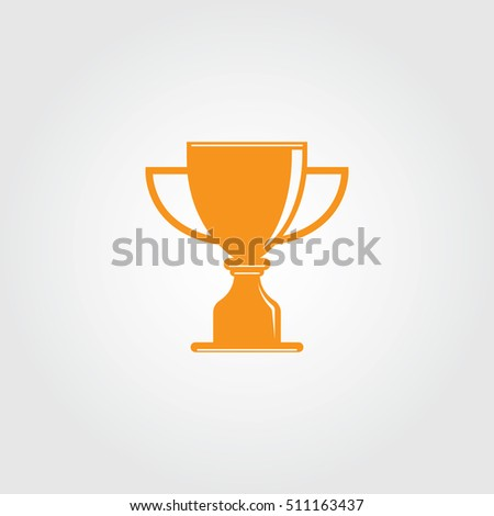 trophy cup logo vector template stock vector royalty free