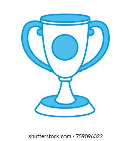 Trophy cup symbol icon vector illustration graphic design