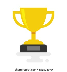 Trophy Cup Vector Flat Icon isolated on white background