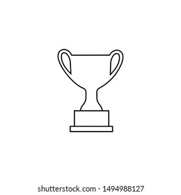 Trophy cup vector icon for web design. Flat style illustration
