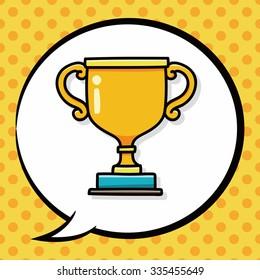 Trophy doodle, speech bubble