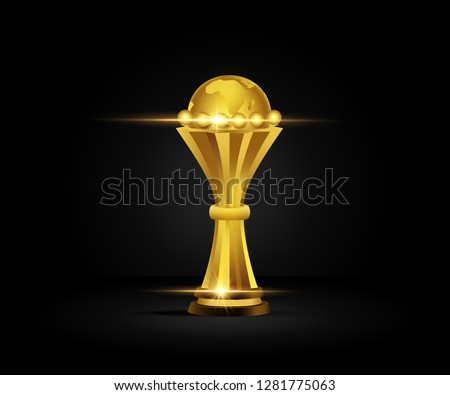 trophy gold isolated on