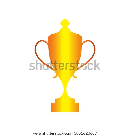 trophy graphic design template stock vector royalty free