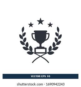 trophy icon achievement symbol design element