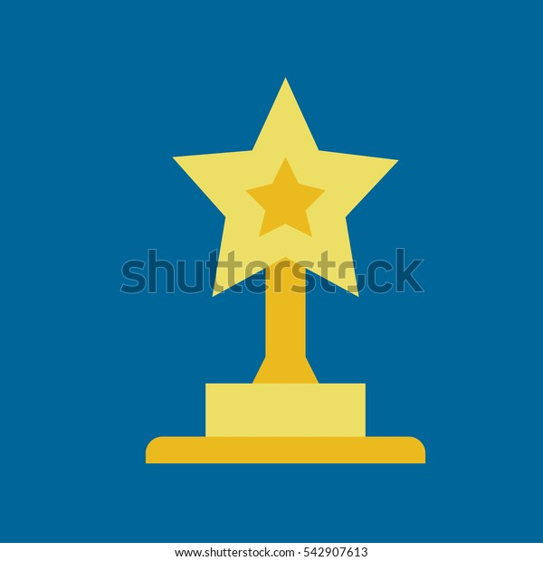 trophy icon flat disign