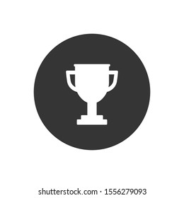 Trophy icon on gray background. Vector