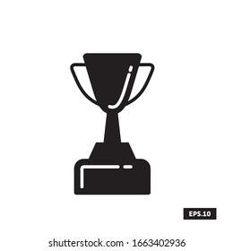 Trophy Icon, Trophy Sign/Symbol Vector