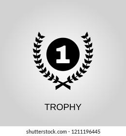 Trophy icon. Trophy symbol. Flat design. Stock - Vector illustration