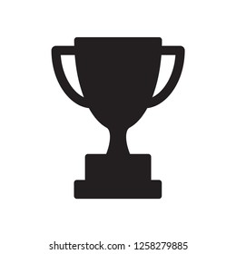 trophy icon in trendy flat style