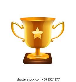 Trophy icon. Vector