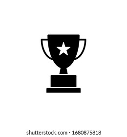 Trophy icon vector. champions cup icon illustration.