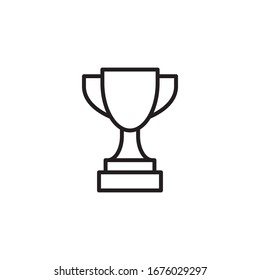 Trophy Icon Vector Design Template