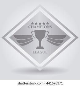 Trophy icon, vector illustration