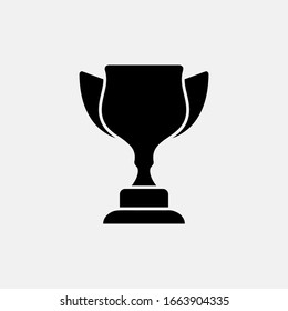 Trophy icon vector illustration in glyph style
