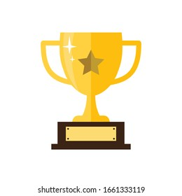 Trophy icon vector illustration logo template.