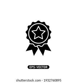 Trophy icon vector illustration logo template for many purpose. Isolated on white background.