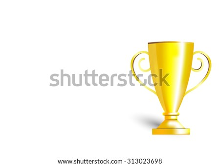 trophy illustration gold object template stock vector royalty free