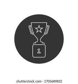 Trophy Line Icon in trendy flat style isolated on grey background. Prize symbol for your web site design, logo, app, UI. Vector illustration