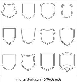 trophy shields frame vector image