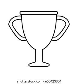 trophy silhouette  illustration