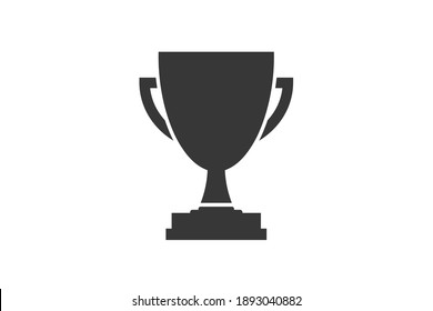 Trophy. Simple icon. Flat style element for graphic design. Vector EPS10 illustration