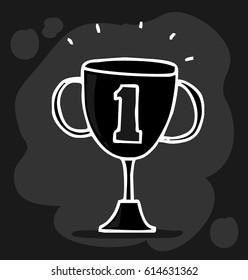 trophy of success doodle