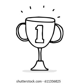 trophy of success doodle style