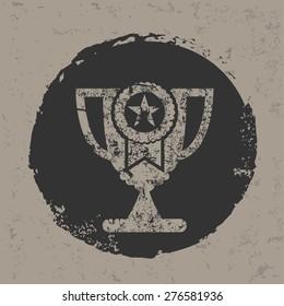 Trophy symbol on grunge design,grunge vector