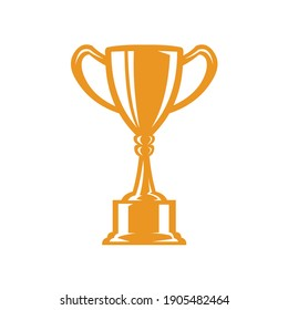 Trophy vector icon, gold cup vector, best for tournament lor championship ogo illustration