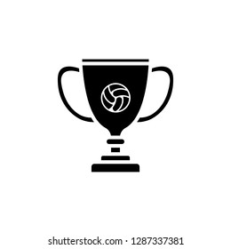 trophy voleyball icon vector. trophy voleyball vector design. sign design. flat style. Vector EPS 10