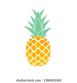 Tropic fruit Pineapple icon symbol design. Vector Illustration EPS10