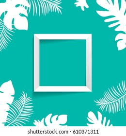 tropic mock up square frame