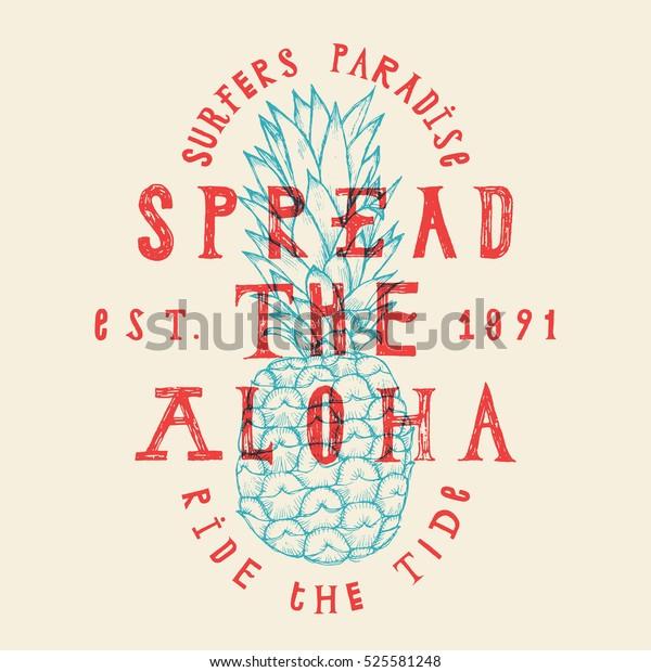 tropic-paradise-vacation-pineapple-print