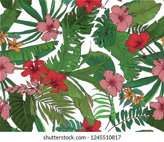 tropical background seamless pattern background