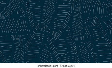 Tropical banana leaf Wallpaper, Luxury nature leaves pattern design, Golden banana leaf line arts, print, cover, Vector illustration.