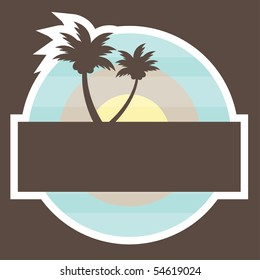 Tropical Beach Banner. vector illustration