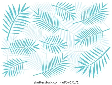 tropical pattern palm tree leaves floral stock vector royalty free