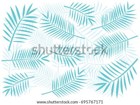 tropical blue palm tree leaves pattern stock vector royalty free