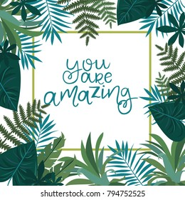 Tropical Leaves Quote Hd Stock Images Shutterstock The most common tropical leaf quote material is ceramic. https www shutterstock com image vector tropical card invitation greeting promotion business 794752525