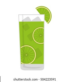 tropical cocktail glass isolated icon vector illustration design