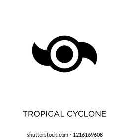 Tropical cyclone icon. Tropical cyclone symbol design from Weather collection. Simple element vector illustration on white background.