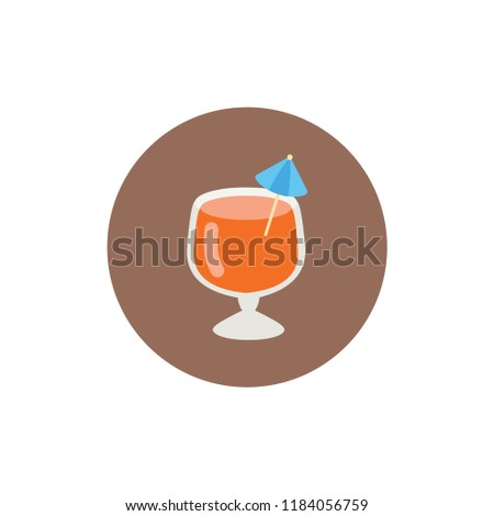 Tropical Exotic Drink Cocktail Cup Vector Stock Vector Royalty Free