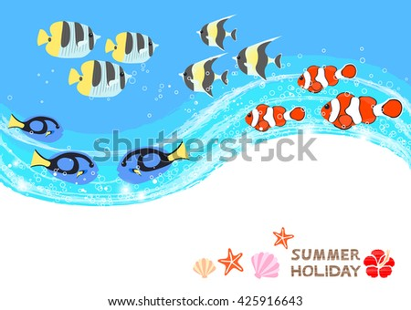 Tropical fish greeting cards stock vector royalty free 425916643 tropical fish greeting cards m4hsunfo