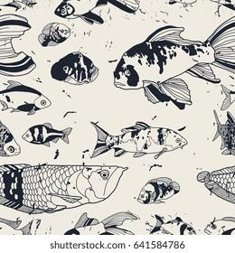 Tropical fish seamless pattern