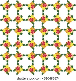Tropical floral repeat pattern