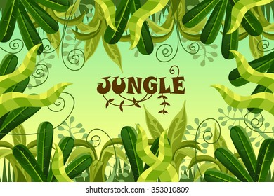 tropical forest. jungle. vector illustration