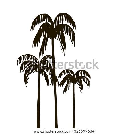 Tropical Forest Jungle Vintage Template Palm Stock Vektorgrafik