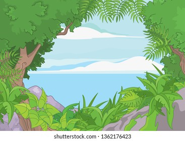 Tropical forest Landscape